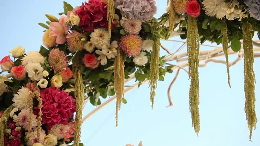Wedding flower arch decoration wedding arch decorated with wedding flower arch decoration wedding arch decorated with flowers on the beach white ceramic angel wedding interior ceremony wedding arch junglespirit Choice Image