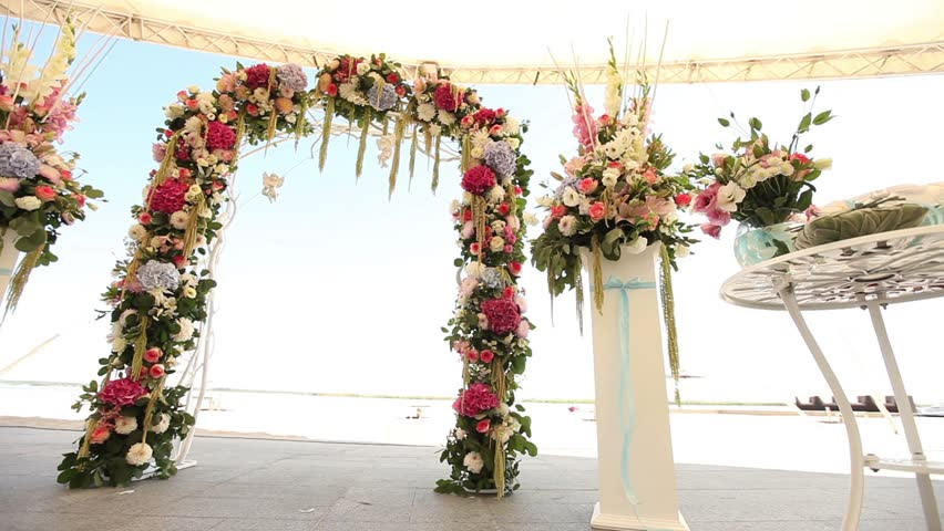 Beach Wedding Arch Ideas: Wedding Decorations On The Beach, Wedding Interior