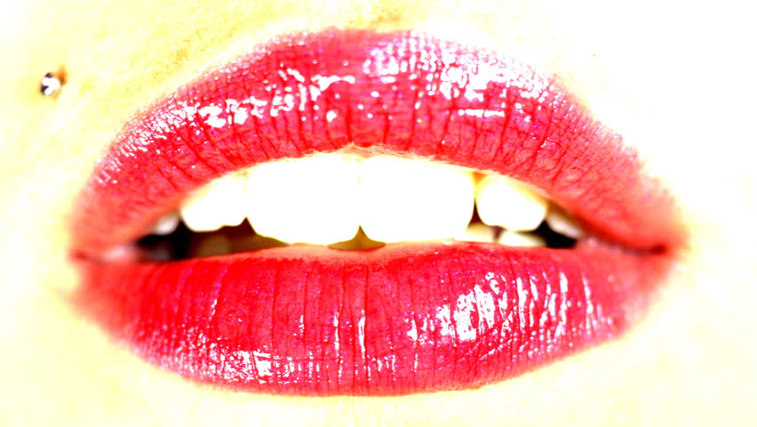 moving red lips