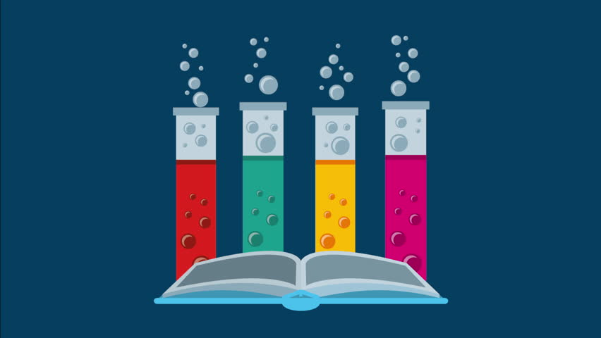 open books and icons of science the concept of modern