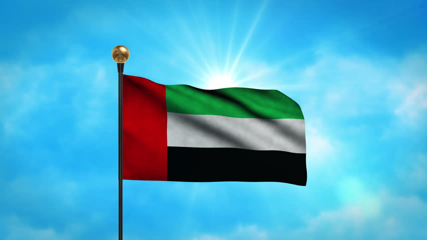 Flag of united arab emirates beautiful 3d animation of for 3d wallpaper for home uae