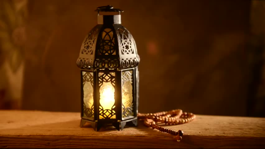 Traditional Ramadan Lantern And Islamic Rosary Festive Background Stock Footage Video 15207691