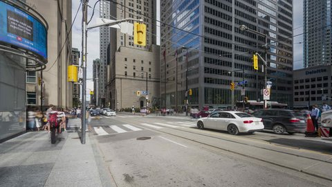 Toronto, ON, Canada | 2015 August 21st | 4K Timelapse Sequence of Bay and King Street.