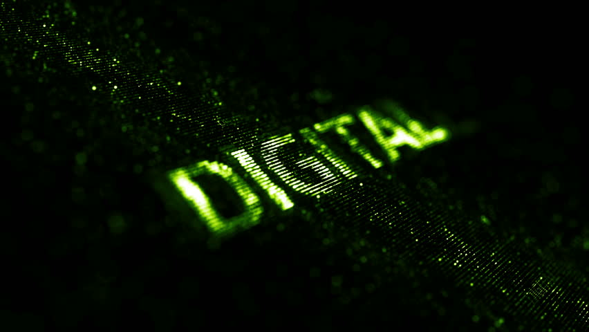 Computer theme word made of random dots on fractured string background with glow, abstract digital background with depth of field, particle style video | Shutterstock HD Video #15317311