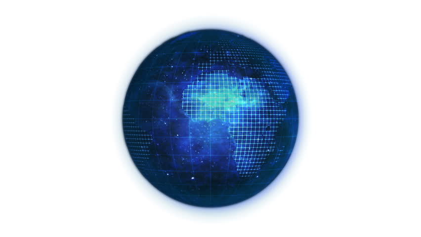 Animated blue planet globe with network against a white background | Shutterstock HD Video #1532203