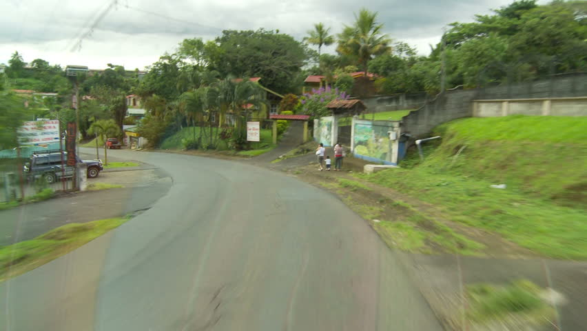 COSTA RICA - NOV 11: Driving through Costa Rican town on November 11, 2009.