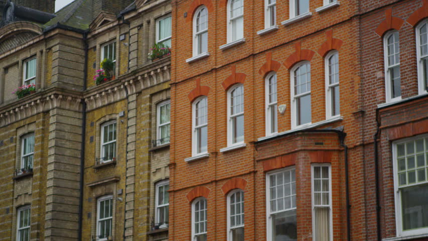 4k exterior view of period town houses in a london suburb uk january - Brown Apartment 2015