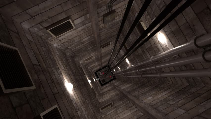 Going Down In An Elevator Shaft Stock Footage Video