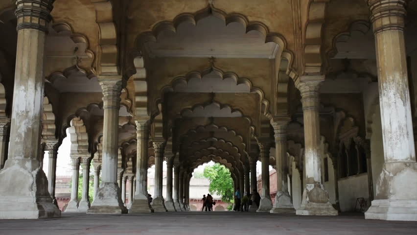 Agra Fort, the hall of public audience, Agra, Uttar Pradesh, India