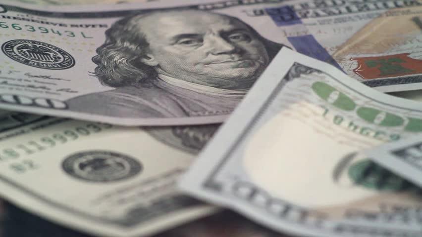 100 dollars, cash, shallow depth of field    Shutterstock HD Video #15388891