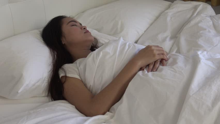Asian girls sleeping