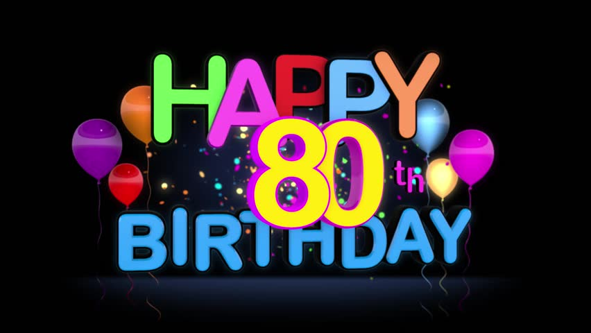 Eightieth Birthday Royalty Free Stock Footage