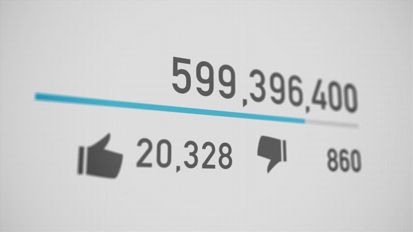 A close up of a video counter quickly increasing to 1 billion views. Perspective version.  	 | Shutterstock HD Video #15464077