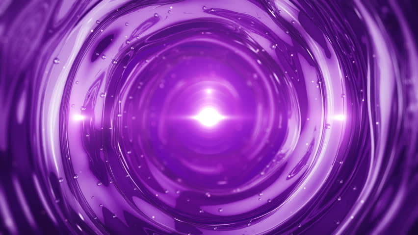 Abstract background with swirl of crystal glass and glassed drops or clean water. Animation of seamless loop.