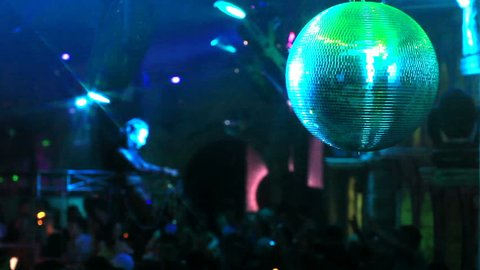 Montage of a night club party