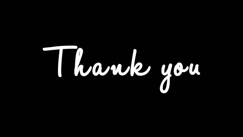 Thank you stock footage video shutterstock animation of thank you handwritten with alpha channel change font color with voltagebd Gallery