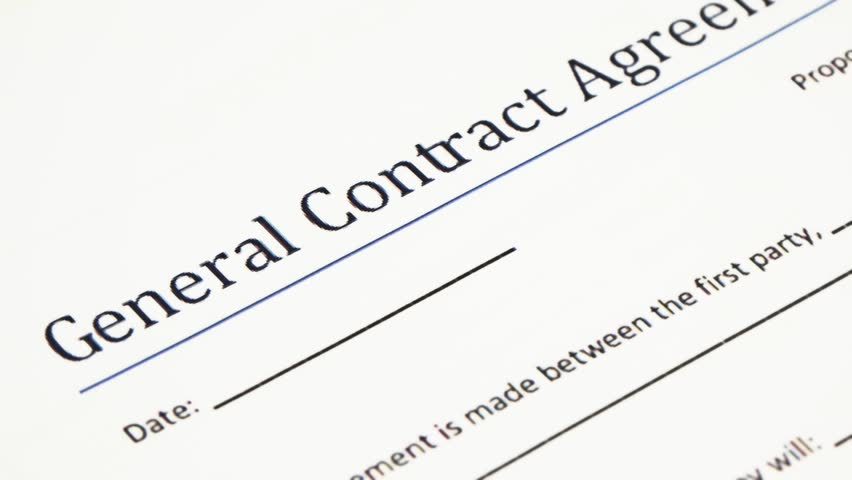 Analyzing General Contract Agreement Form A Contract Is A