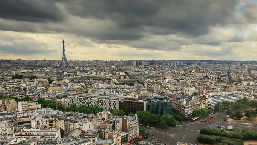 Time Lapse of Paris skyline with the world famous Eiffel Tower on background. | Shutterstock HD Video #15630430