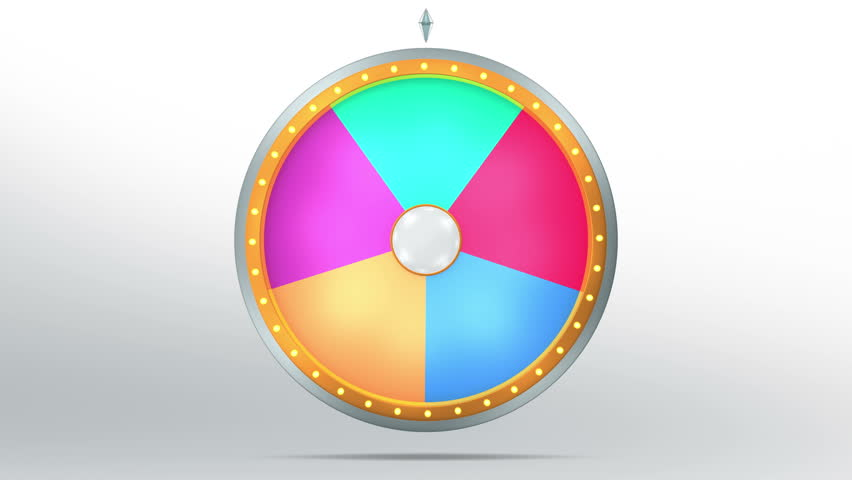 The Wheel of Fortune or Stock Footage Video (100% Royalty ...