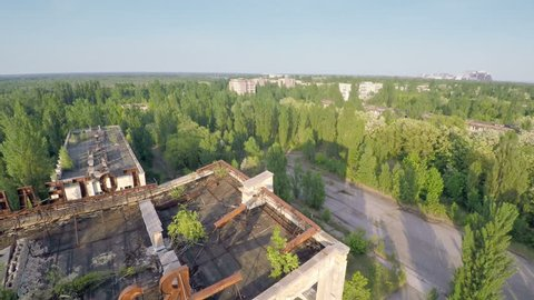 Chernobyl - Hotel Polesie (Woodland) -  Known from the Game S.T.A.L.K.E.R _ Drone Flight