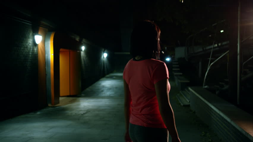 Female jogging in the bustling city at Night London, UK June, 2015 | Shutterstock HD Video #15692503