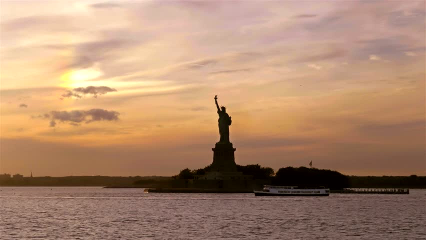 Statue of Liberty in the Sunset   Shutterstock HD Video #15707131