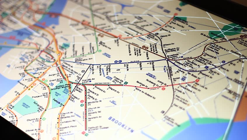 MOSCOW RUSSIA MAY New York City Subway Map On Touch - Moscow russia on world map