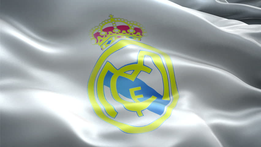 3d376e169 This is the surging effected flag of Real Madrid C.F. which is a football  club