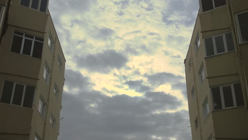 Definition Balkon beautiful clouds and balkon a great of stock footage
