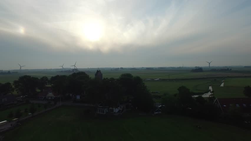 Dutch, canal, mills, farm, Netherlands | Shutterstock HD Video #15878911