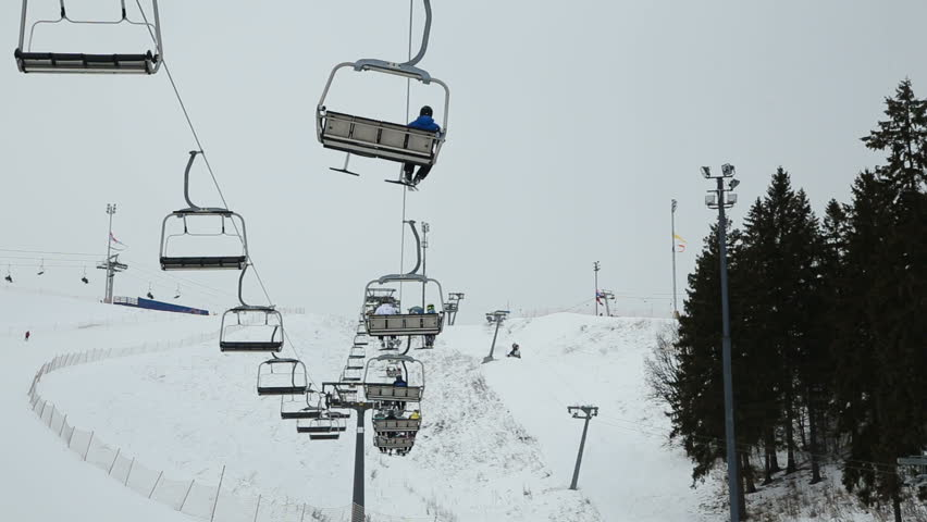 Stock Video Of Ski Lift Chairs On Winter Day.modern | 15964861 |  Shutterstock