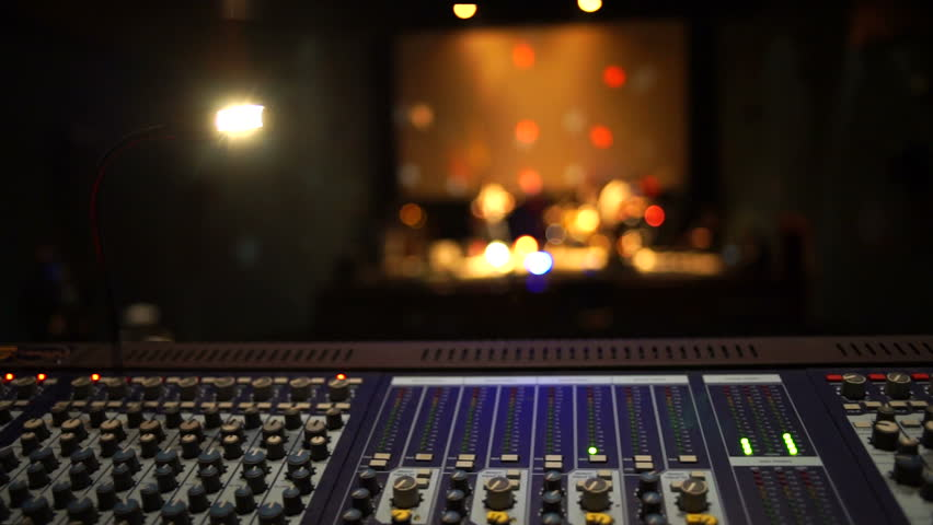 Stage ambient on a concert. Audio technician.   Shutterstock HD Video #15974191