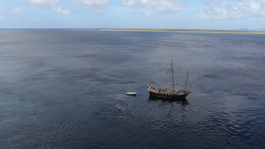 September 2011 - Bonaire - sailboat on lagoon waters