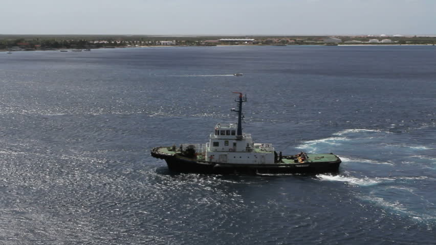 September 2011 - Bonaire - Tugboat off of Bonaire