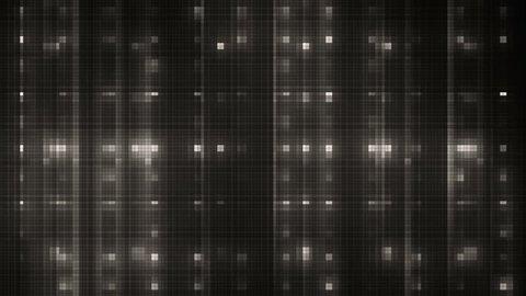 Vj Abstract Silver Bright Mosaic. Bright beautiful flood lights disco silver background mosaic. Seamless loop.