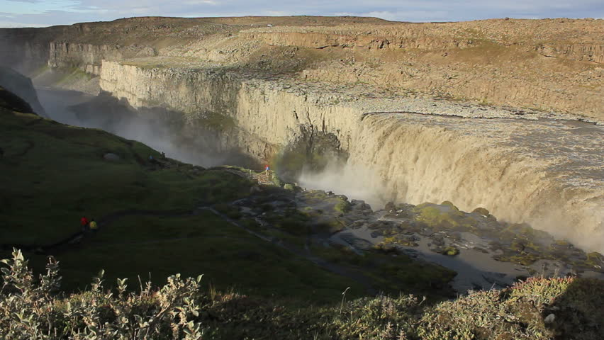 Dettifoss on Iceland: Europe's largest waterfall - Wide shot