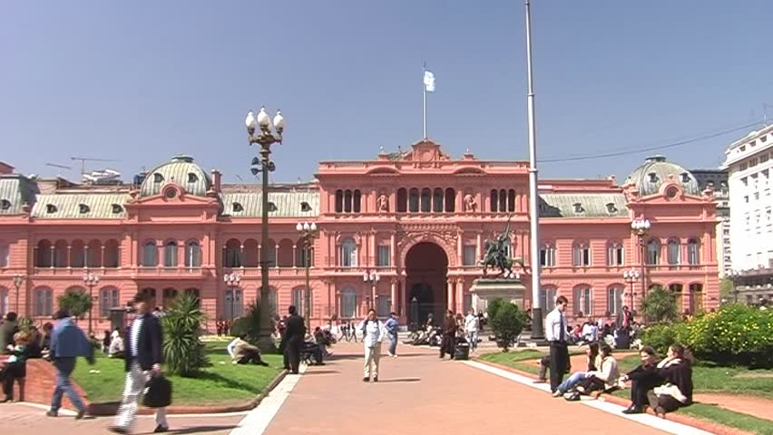Casa Rosada (government Building) at Stock Footage Video ...