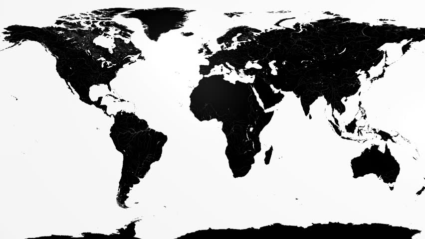 Political map of the world black and white stock footage video full 4k res animation of a colourful earth map being ripped apart to reveal a gumiabroncs Gallery