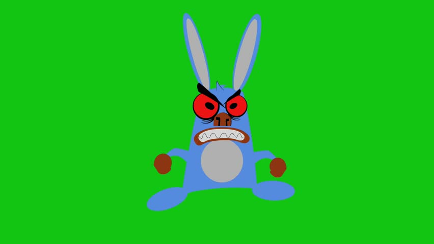Cartoon Angry Isolated Rabbit Images Stock Photos