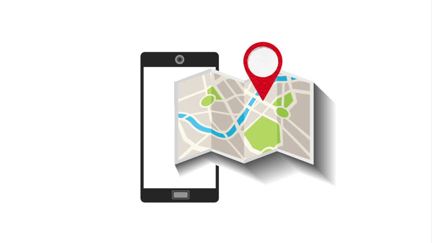 gps service , video animation
