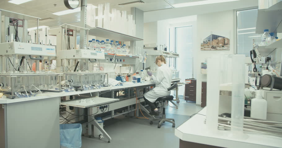 Scientist working in a lab on developing a coronavirus vaccine | Shutterstock HD Video #16331101