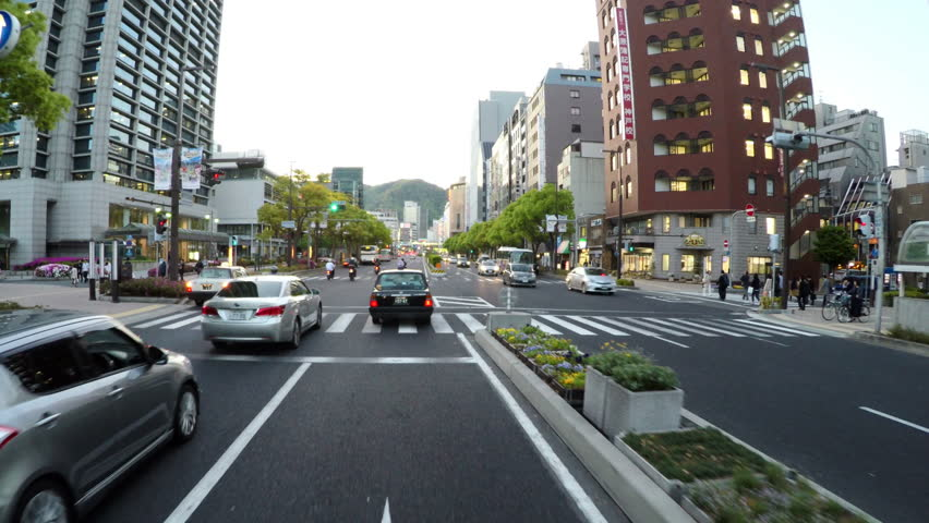 info for 8fded 3c83f KOBE, JAPAN - Main Flower Road through central Kobe along the City Hall and  Mayor s office.