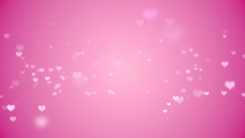 Floating Light Pink Hearts Fade In And Out Against A Pink