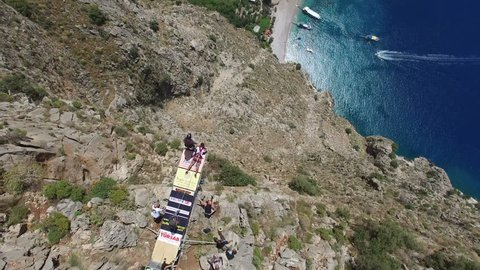 Base Jumpers At Butterfly Valley Turkey Fethiye