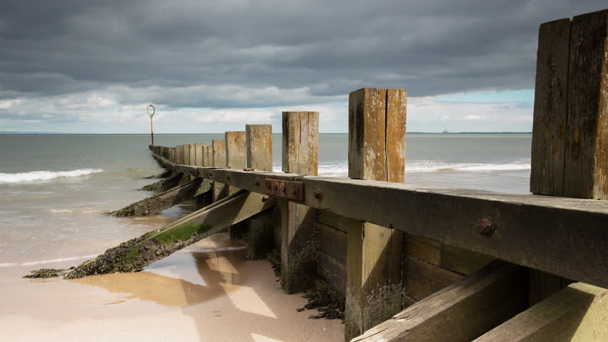 Timelapse of Wave Break at Portobello Beach