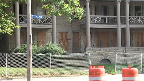Boarded Up Home In Cleveland Ohio
