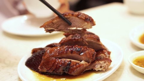 Roasted geese and duck famous barbecue food cuisine of Hong Kong, Chinese