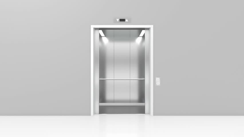 Opening doors in modern elevator. 3d animation | Shutterstock HD Video #16523971
