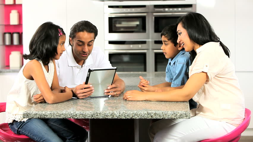 Asian Family Using Online Video Stock Footage Video 100 -4145