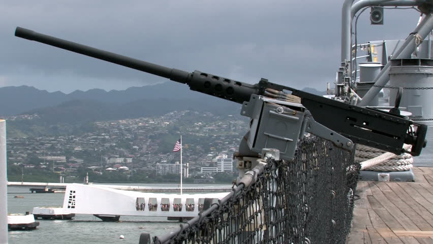 Uss Missouri Docked At Ford Island In Pearl Harbor
